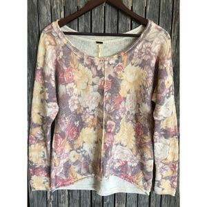 FREE PEOPLE Spring Floral Sweater